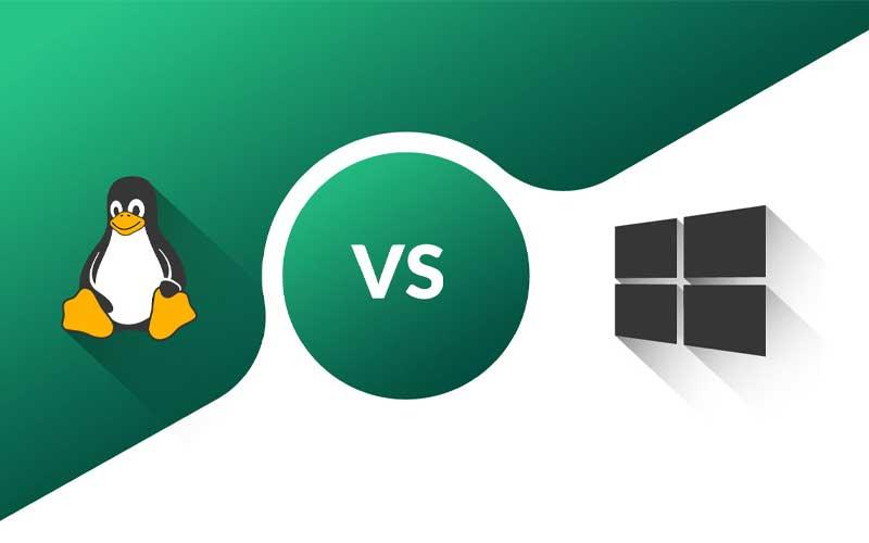 تصویر از سرور لینوکس در مقابل سرور ویندوز