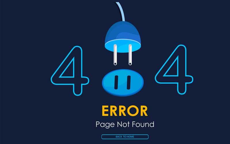 تصویر از ارور 404 چیست ؟ آموزش رفع خطای ۴۰۴ not found