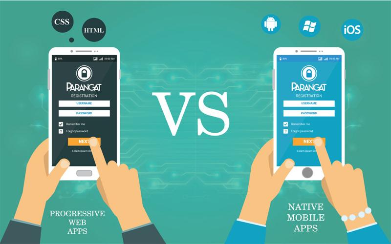 تفاوت بین native app و وب اپلیکیشن PWA چیست