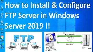 تصویر از آموزش نصب و راه اندازی FTP Server در ویندوز سرور 2019