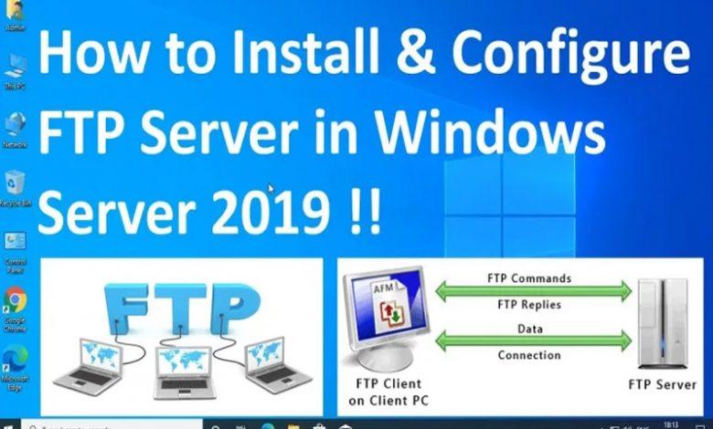 نصب FTP Server در ویندوز سرور 2019