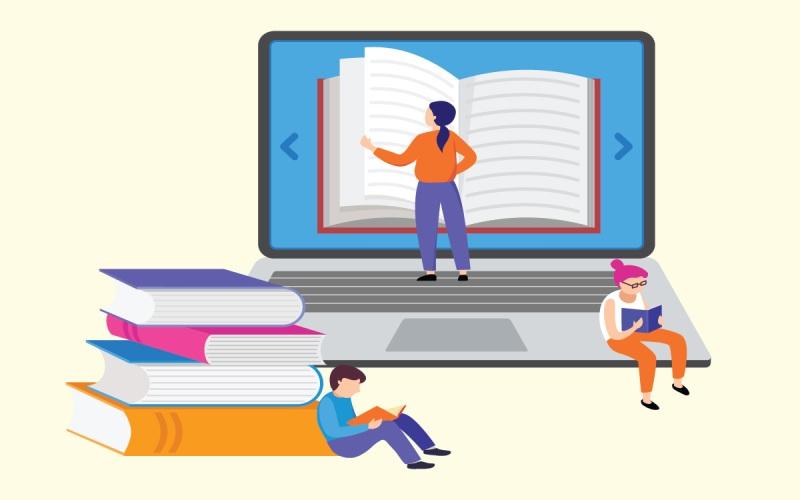 طراحی بیگ بلو باتن برای یادگیری آنلاین